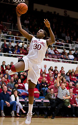 February 20, 2010; Stanford, CA, USA;  Stanford Cardinal forward Nnemkadi Ogwumike (30) shoots against the Oregon St. Beavers during the first half at Maples Pavilion.  Stanford defeated Oregon State 82-48.