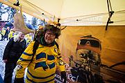&Ouml;STERSUND, SVERIGE - 2017-12-02: Svenskt fans under herrarnas sprint t&auml;vling under IBU World Cup Skidskytte p&aring; &Ouml;stersunds Skidstadion den 2 december 2017 i &Ouml;stersund, Sverige.<br /> Foto: Johan Axelsson/Ombrello<br /> ***BETALBILD***