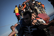 Migrant desimbarking on the Greek coasts of Lesbos after crossing the Aegean sea. FEDERICO SCOPPA/CAPTA