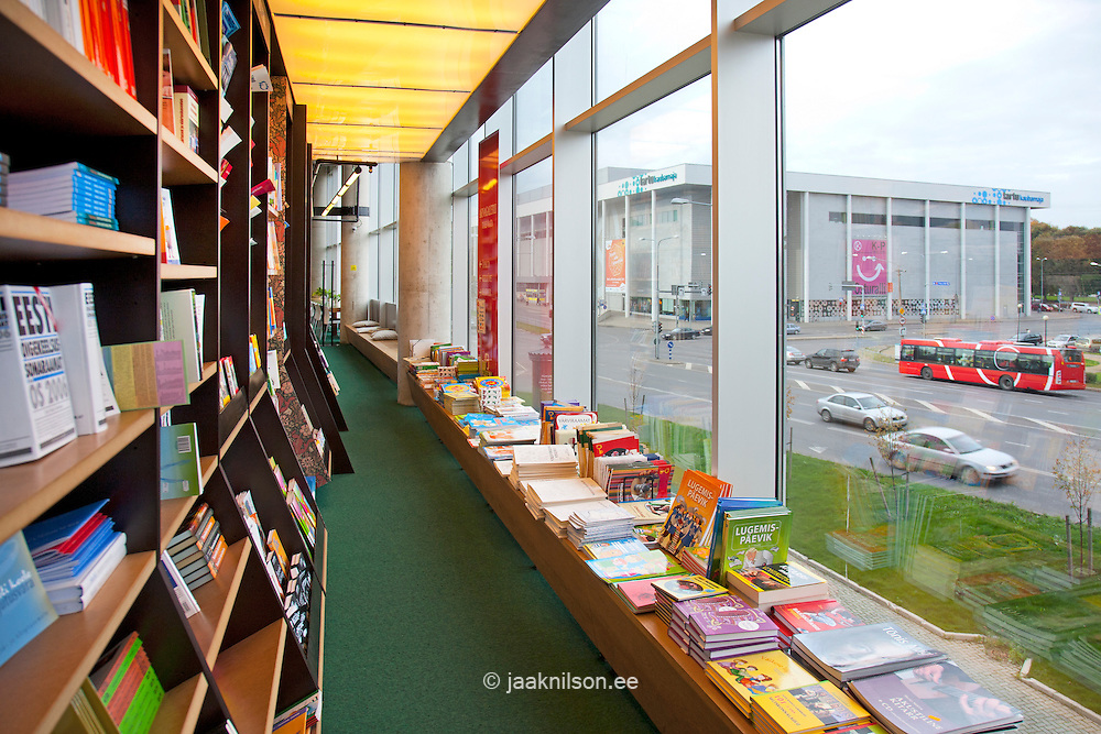 bookstore with large windows