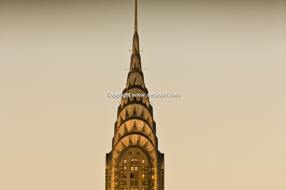 New York. The Chrysler building . skycscrappers  New York - United states  / le Chrysler building, gratte-ciel  New York - Etats-unis