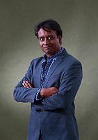 Zia Haider Rahman<br /> Edinburgh International Book Festival 2014 photos taken in Charlotte Square Gardens. Edinburgh. Pako Mera 11/08/2014
