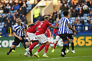 Julian Borner of Sheffield Wednesday has his shirt pulled during the EFL Sky Bet Championship match between Sheffield Wednesday and Bristol City at Hillsborough, Sheffield, England on 22 December 2019.