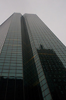 Midtown Manhattan skyscraper building in the evening time