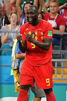 Torjubel Romelu LUKAKU (BEL) nach Tor zum 3-0, Jubel,Freude,Begeisterung,, Aktion,Einzelbild,angeschnittenes Einzelmotiv,Halbfigur,halbe Figur. Belgien (BEL) - Panama (PAN) 3-0, Vorrunde, Gruppe G, Spiel 13, am 18.06.2018 in SOTSCHI,Fisht Olymipic Stadium. Fussball Weltmeisterschaft 2018 in Russland vom 14.06. - 15.07.2018. *** Goal celebrations Romelu LUKAKU BEL after goal 0 3 joy cheering action single image truncated single motive half figure half figure Belgium BEL Panama PAN 3 0 preliminary round Group G match 13 on 18 06 2018 in SOCHI Fisht Olymipic Stadium Soccer World Cup 2018 in Russia vom 14 06 15 07 2018