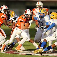 Adam Robison   BUY AT PHOTOS.DJOURNAL.COM<br /> Calhoun City quarterback Jojo Gray runs the ball against the Bay Springs defense in the forst quarter.
