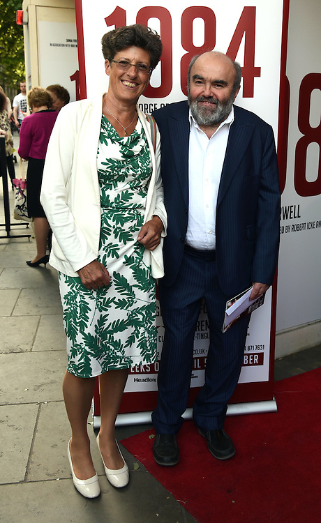 Libby Asher & Andy Hamilton attend 1984 Play press night at The Playhouse, Norththumberland Avenue, London on Thursday 18 June 2015