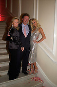 Kathy Richards, Vic Hilton and Paris Hilton. Paris Hilton's Fragrance Launch Party at Il Bottaccio, Grosvenor Place. London. 16 May 2005. . ONE TIME USE ONLY - DO NOT ARCHIVE  © Copyright Photograph by Dafydd Jones 66 Stockwell Park Rd. London SW9 0DA Tel 020 7733 0108 www.dafjones.com