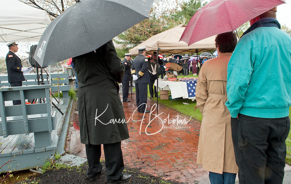 """(Karen Bobotas/for the Laconia Daily Sun)Celebration of Life memorial service for Charles """"Chuck"""" Palm at Hesky Park in Meredith May 15, 2011."""