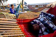 Capelinha_MG, Brazil.<br /> <br /> O municipio  esta localizado a mais de 900 metros de altitude, e famosa pelo intenso frio no inverno, o que atrai relativo numero de turistas em sua principal festa, o Capelinhense Ausente. Na foto, Edival Silva, vendedor de raspadinha durmindo em uma rede.<br /> <br /> The municipality is located more than 900 meters high, and famous for the intense cold in the winter, which attracts number of tourists for its main party, the Capelinhense Ausente. In the photo, Edival Silva, seller scratch sleeping on a hammock.<br /> <br /> Foto: LEO DRUMOND / NITRO