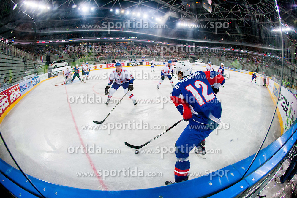 David Rodman of Slovenia during ice-hockey match between Great Britain and Slovenia at IIHF World Championship DIV. I Group A Slovenia 2012, on April 15, 2012 in Arena Stozice, Ljubljana, Slovenia. (Photo by Vid Ponikvar / Sportida.com)