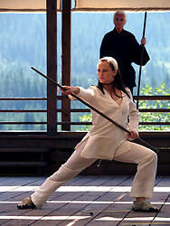 RELEASE DATE: January 14, 2005. MOVIE TITLE: Elektra. STUDIO: 20TH Century Fox. PLOT: In the ultimate battle between good and evil stands a warrior who makes the choice that tips the balance. A strong, mysterious and a deadly sexy action heroine - a lethal synthesis of grace and power. Not long after recovering from seemingly mortal wounds, Elektra has severed all ties with the world, living only for her next assignment. PICTURED: JENNIFER GARNER stars as Elektra. (Credit Image: © 20th Century Fox/Entertainment Pictures/ZUMAPRESS.com)