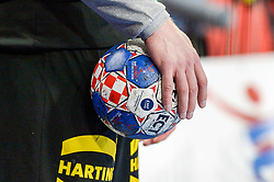 Offical ball during handball match between National teams of Germany and Denmark on Day 4 in Main Round of Men's EHF EURO 2018, on January 21, 2018 in Arena Varazdin, Varazdin, Croatia. Photo by Mario Horvat / Sportida