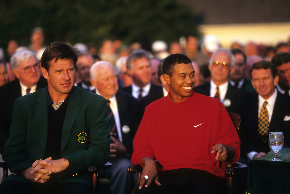 Tiger Woods at the 1997 Masters Championship held at the Augusta National Golf Club in Augusta, GA.