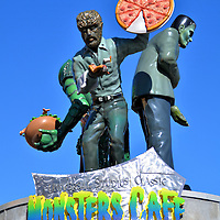 Rotating Monsters Café Sign at Universal in Orlando, Florida<br />