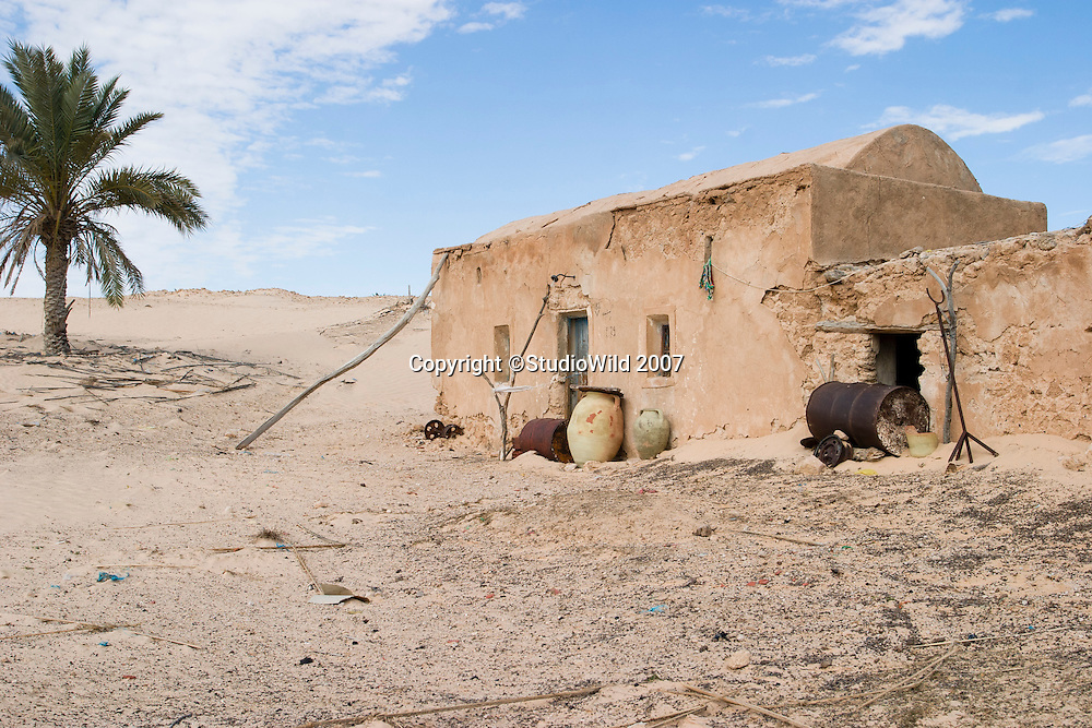A house in a desert village at the border of the Sahara, in Sened, Gafsa