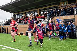 Players run out - Mandatory by-line: Paul Knight 12/2019 - RUGBY - Shaftesbury Park - Bristol, England - Bristol Bears Women v Gloucester-Hartpury Women - Tyrrells Premier 15s