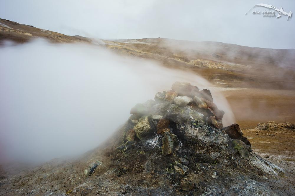 Geothermal vents at Hverarondor Hverir, Iceland