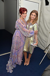Left to right, SHARON OSBOURNE and SARAH HYLAND at the Glamour Women of The Year Awards in Association with Next held in Berkeley Square Gardens, Berkeley Square, London on 3rd June 2014.