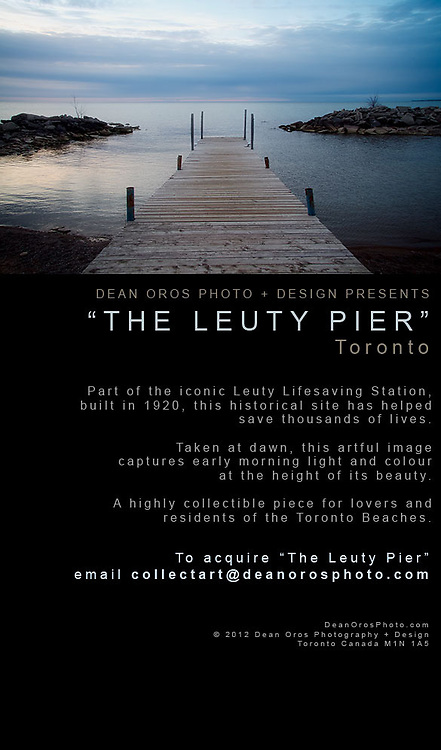Dean Oros Photo + Design presents &quot;The Leuty Pier&quot;.<br />