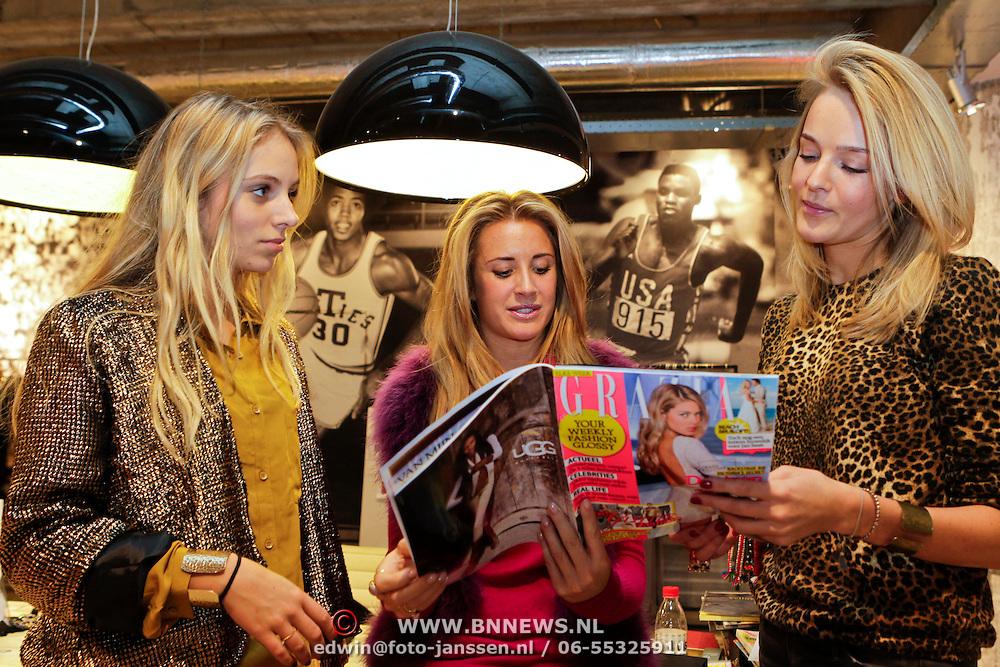 NLD/Amsterdam/20111207- Chantal Bles in haar studio, samen met haar medewerksters Lisette Schrickx en Karlijn Jelske