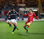 Dundee&rsquo;s Faissal El Bakhtaoui and Aberdeen&rsquo;s Niall McGinn - Dundee v Aberdeen in the Ladbrokes Scottish Premiership at Dens Park, Dundee. Photo: David Young<br /> <br />  - &copy; David Young - www.davidyoungphoto.co.uk - email: davidyoungphoto@gmail.com