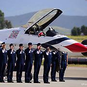 Thunderbird Pilots; Travis AFB, May 6, 2017