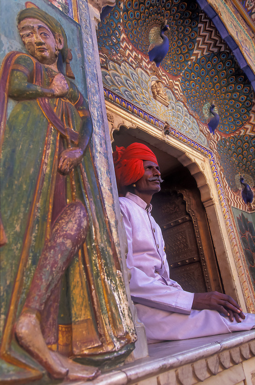 City Palace Guards, Jaipur, Rajasthan, India