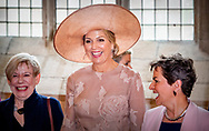 MIDDELBURG - King Willem-Alexander, Her Majesty Queen Maxima and will be present on Wednesday 16 May 2018 at the presentation of the Franklin D. Roosevelt Four Freedoms Awards in the Nieuwe Kerk in Middelburg. Her Royal Highness Princess Beatrix of the Netherlands is also present at the ceremony. The Prime Minister awards the International Four Freedoms Award to Christiana Figueres, representative of the Paris Climate Agreement.This year, the Awards for Freedom of Expression, Freedom of Religion, Indemnity and Deficiencies are being awarded to Erol Önderoǧlu from Turkey, Bishop Paride Taban from South Sudan, Emmanuel de Merode from the Virunga Alliance in Democratic Republic of Congo and Urmila Chaudhary from Nepal.<br /> copyrught robin utrecht <br /> <br /> <br /> MIDDELBURG - De winnaars van de Four Freedoms Awards poseren voor een groepsfoto met koning Willem-Alexander, koningin Maxima en prinses Beatrix tijdens de uitreiking in de Nieuwe Kerk in Middelburg. ANP ROYAL IMAGES ROBIN UTRECHT
