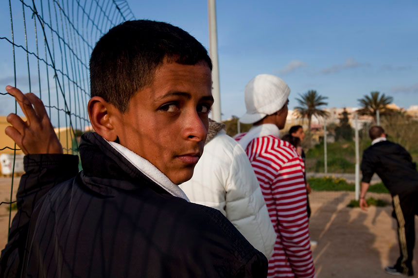 North African refugees dailylife on the Island of Lampedusa.Lampedusa is curently overcrowded  with more than 5000 thousands immigrants from Tunisia.