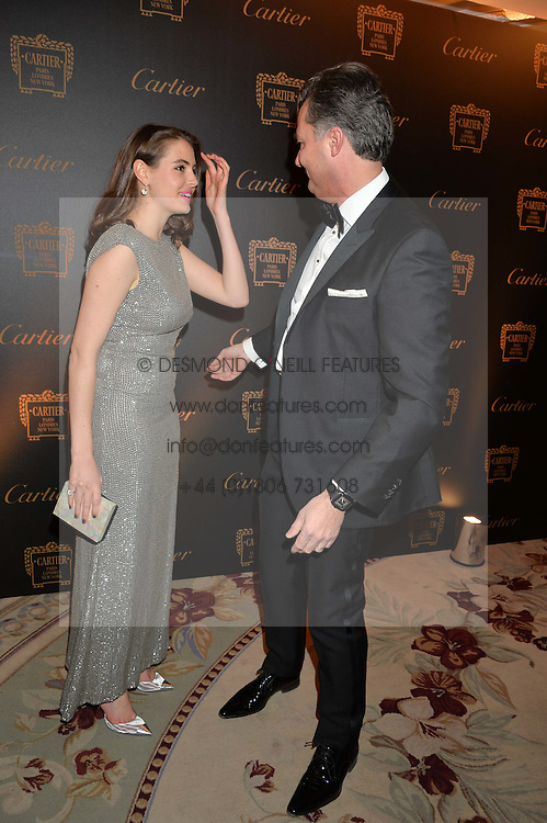 GENEVIEVE GAUNT and LAURENT FENIOUat the 26th Cartier Racing Awards held at The Dorchester, Park Lane, London on 8th November 2016.