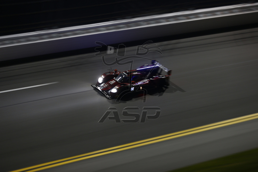 Daytona Beach, FL - Jan 31, 2016:  The IMSA WeatherTech Sportscar Championship teams take to the track for a practice session for the Rolex 24 at Daytona at Daytona International Speedway in Daytona Beach, FL.