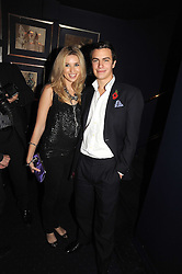 MISS ALEX FINLAY and ROBERT SHEFFIELD at the Tatler Magazine Little Black Book party at Tramp, 40 Jermyn Street, London SW1 on 5th November 2008.