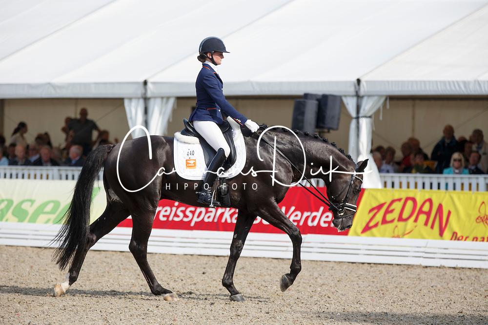 Van Der Putten Marieke, (NED), El Capone 5<br /> Small Final 6 years old horses<br /> World Championship Young Dressage Horses - Verden 2015<br /> © Hippo Foto - Dirk Caremans<br /> 08/08/15