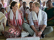 Kate Middleton & Prince William Visit Tea Garden & Village