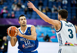 Kostas Sloukas of Greece during basketball match between National Teams of Slovenia and Greece at Day 4 of the FIBA EuroBasket 2017 at Hartwall Arena in Helsinki, Finland on September 3, 2017. Photo by Vid Ponikvar / Sportida