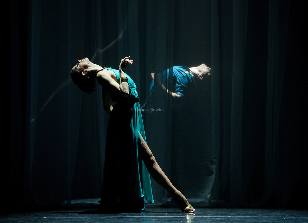 Leonardo Luizaga and Florencia Roldan perform as part of Immortal Tango at the Peacock Theatre, London.