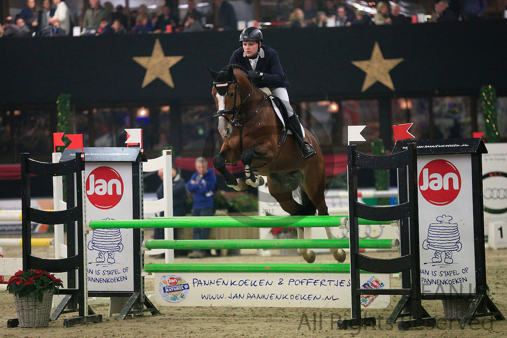 Tom Brinkman - Dexter R<br /> KNHS/KWPN GMB Hengstencompetitie Roosendaal 2012<br /> © DigiShots