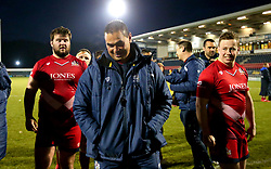 Bristol Rugby Head Coach Pat Lam smiles after his side's victory over Doncaster Knights - Mandatory by-line: Robbie Stephenson/JMP - 02/12/2017 - RUGBY - Castle Park - Doncaster, England - Doncaster Knights v Bristol Rugby - Greene King IPA Championship