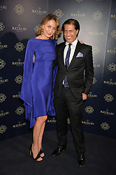 MARIA-CRISTINA BUCCELLATI and ALEXANDER BARANI at an evenig of Jewellery & Photography to launch the Buccellati 'Opera Collection' held at Spencer House, London on 21st October 2015.