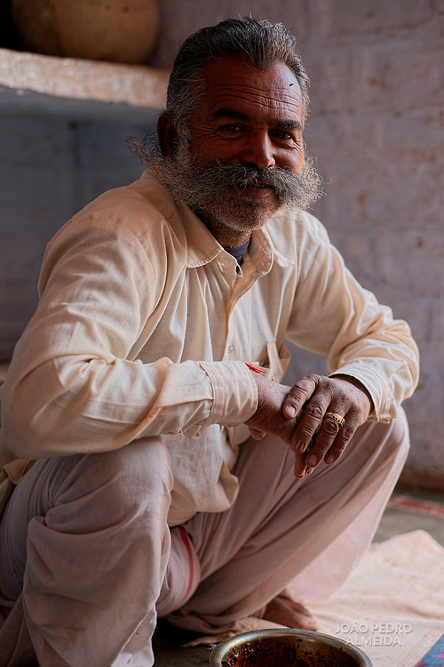 Portrait of a host in the Bishnoi region