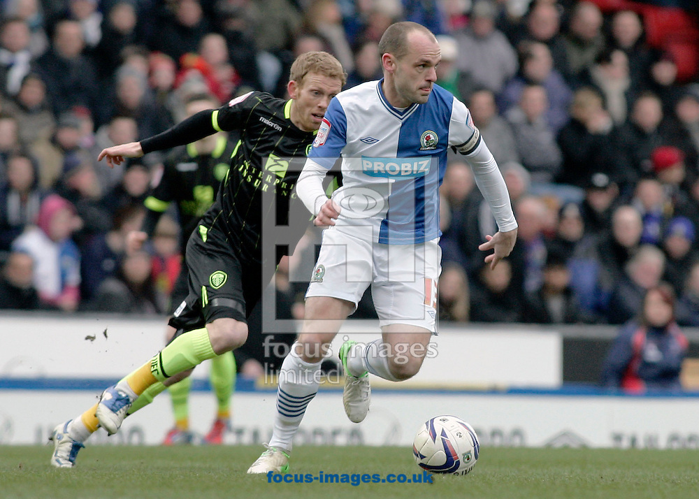 Picture by Michael Sedgwick/Focus Images Ltd +44 7900 363072.23/02/2013.Danny Murphy of Blackburn Rovers in action against Leeds United during the npower Championship match at Ewood Park, Blackburn.