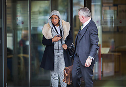© Licensed to London News Pictures. 01/03/2017. London, UK. Shanique Pearson leaves Isleworth Crown Court after appearing in connection with a so called road rage incident with BBC broadcaster Jeremy Vine. Pearson was filmed confronting the Radio 2 presenter who was cycling in front of her car in August 2016 in Kensington. She faces a possible custodial sentence on charges of driving without reasonable consideration for other road users, using a vehicle without a valid licence and using threatening, abusive or insulting words or behaviour. Photo credit: Peter Macdiarmid/LNP