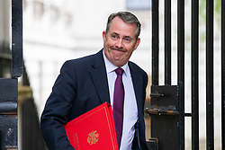 © Licensed to London News Pictures. 24/04/2018. London, UK. Secretary of State for International Trade Liam Fox on Downing Street for the weekly Cabinet meeting. Photo credit: Rob Pinney/LNP