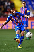 VALENCIA, SPAIN - FEBRUARY 25: Dariusz Dudka of Levante UD in action during the Liga BBVA between Levante UD and Club Atletico Osasuna at the Ciutat de Valencia stadium on February 25, 2013 in Valencia, Spain. (Photo by Aitor Alcalde Colomer).