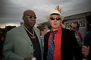 CASS PENNANT; IRVINE WELSH, To celebrate the launch of  Crime,  by Irvine Welsh. Party on boat ' The  Golden Flame. Thames. 17 July 2008 *** Local Caption *** -DO NOT ARCHIVE-© Copyright Photograph by Dafydd Jones. 248 Clapham Rd. London SW9 0PZ. Tel 0207 820 0771. www.dafjones.com.