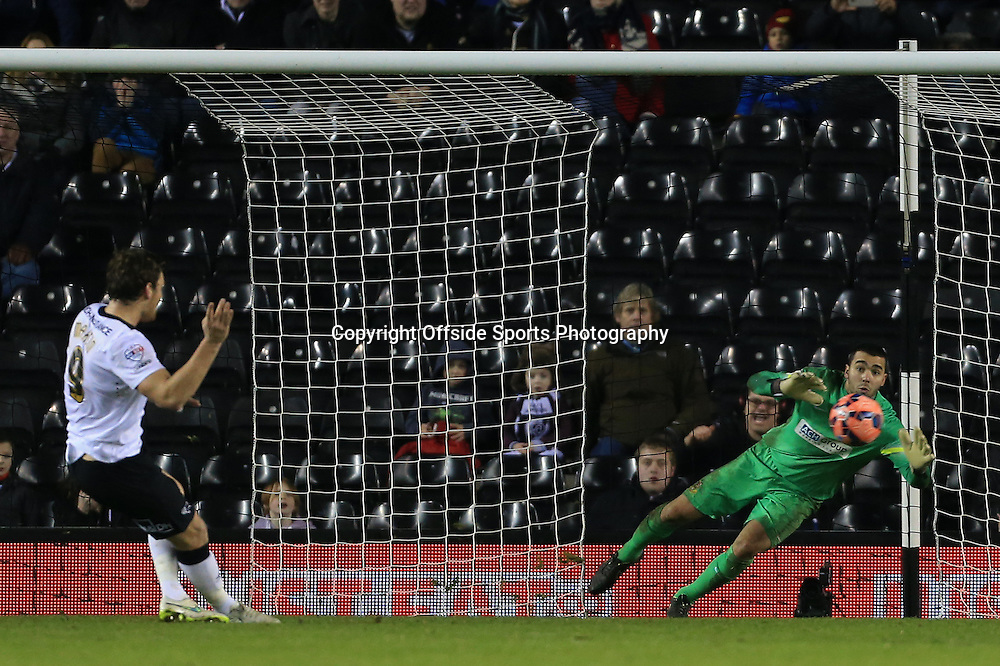 3rd January 2015 - FA Cup - 3rd Round - Derby County v Southport - Chris Martin of Derby scores their 1st goal with a penalty - Photo: Simon Stacpoole / Offside.