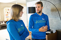 Tina Sutej and Zan Rudolf during press conference of The Athletic Federation of Slovenia and their best athletes before summer season 2016, on May 16, 2016, in Maximarket, Ljubljana, Slovenia. Photo by Vid Ponikvar / Sportida