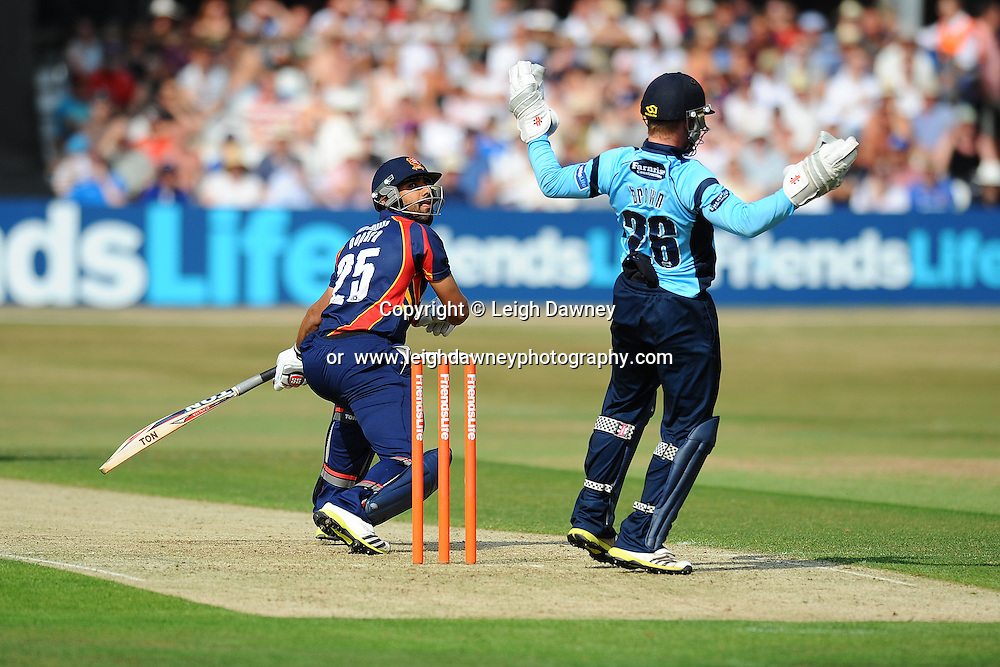 "Ravi Bopara (Captain) batting during the Friends Life T20 between Essex ""Eagles"" v Sussex ""Sharks"". at the Essex County Cricket Ground on the 14th July 2013. Credit: © Leigh Dawney Photography. Self Billing where applicable. Tel: 07812 790920"