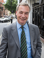 © Licensed to London News Pictures. 01/06/2017. London, UK. Former UKIP leader Nigel Farage is seen in London. He has said that he doubts that the FBI are going to name him as a 'person of interest' in their investigation into Russian involvement in the U.S. election. Photo credit: Peter Macdiarmid/LNP